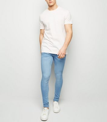 Pale Blue Super Skinny Stretch Jeans