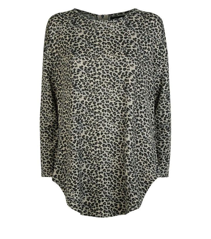 ab71065edce5 ... Light Grey Zip Back Leopard Print Top. ×. ×. ×. Shop the look