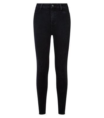 shop for Black Dark Wash High Waist Hallie Super Skinny Jeans New Look at Shopo