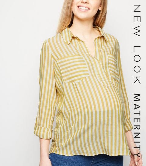 bc3a47dcb78 Maternity Mustard Stripe Overhead Shirt · Maternity Mustard Stripe Overhead  Shirt ...