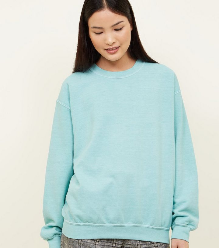 ddcd33db1b4 Mint Green Oversized Sweatshirt