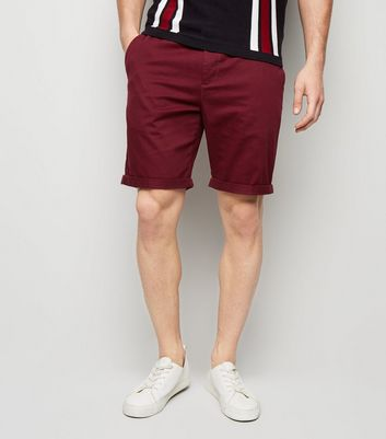 Burgundy Chino Shorts