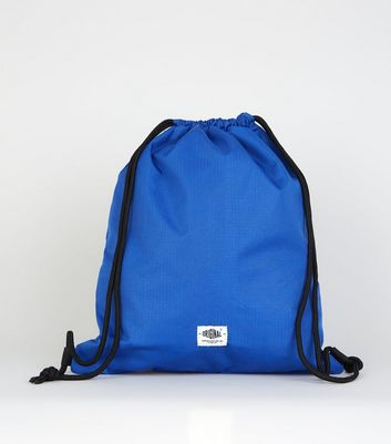 Bright Blue Ripstop Drawstring Backpack