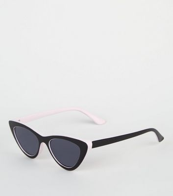 Black and Pink Cat Eye Sunglasses