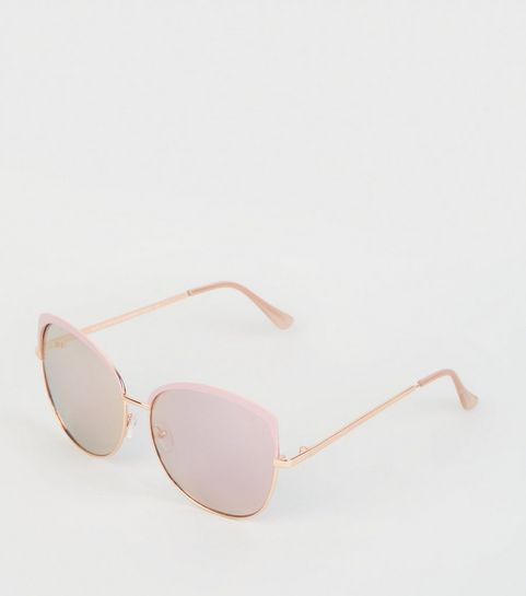 ac36913175 Pink Oversized Rectangle Sunglasses · Pink Oversized Rectangle Sunglasses  ...