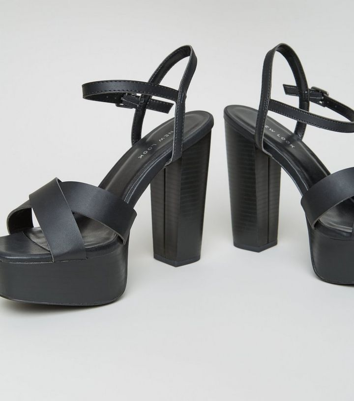 18761e639b9 ... Black Cross Strap Platform Sandals. ×. ×. ×. Shop the look