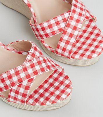 Rote Sandalen und Flip Flops   Damenschuhe   New Look