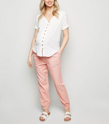 Maternity Pale Pink Lightweight Joggers