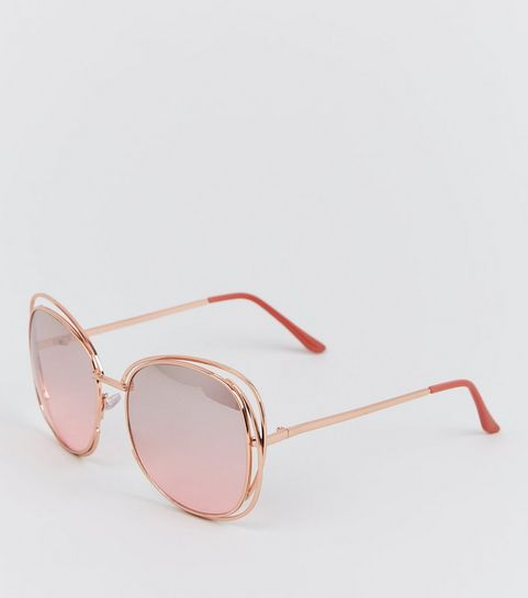 9f346e8d6f94 Black Black Pattern White Dark Brown Green Mint Green Lilac Red Pink Pale  Yellow. Rose Gold Rim Bar Sunglasses · Rose Gold Rim Bar Sunglasses ...