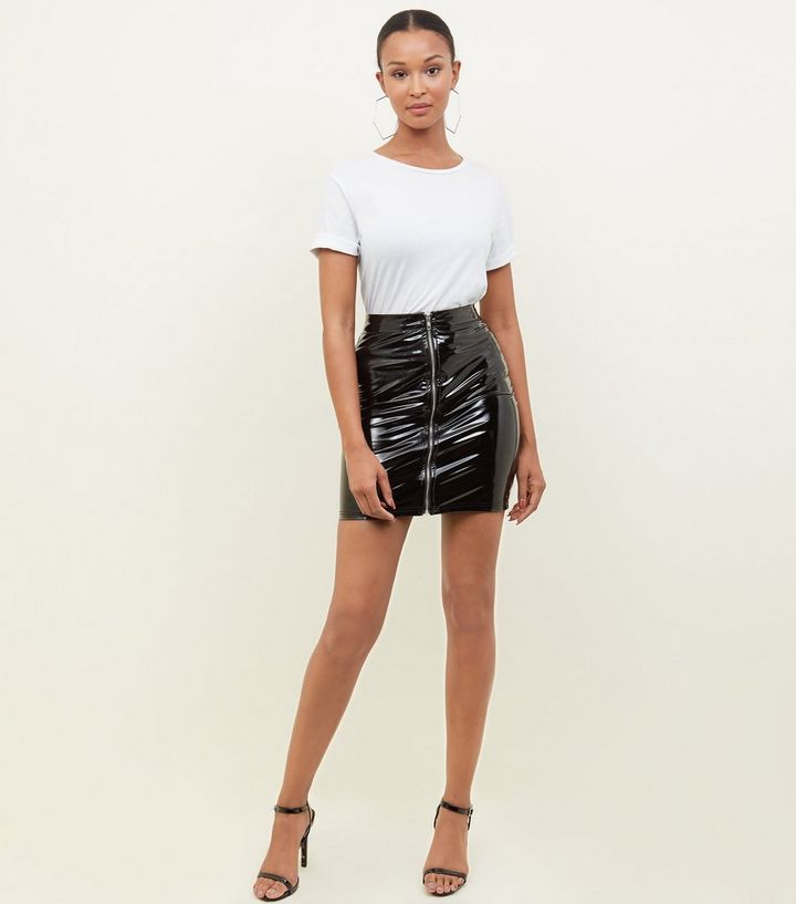 79025934b5 ... Parisian Black Vinyl Zip Front Mini Skirt. ×. ×. ×. Shop the look