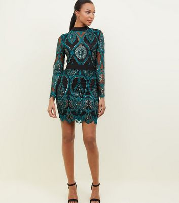 8e8e3c73bd11e3 Kleid In Langärmliges Schwarz – Parisian Paillettenbesetztes Mit S84tIv