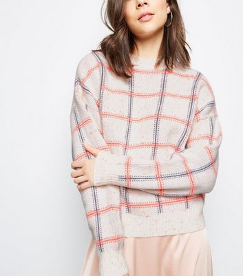 Off White Neon Check Jumper