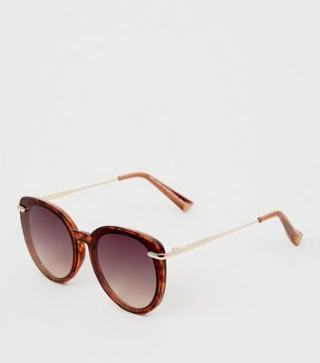 Dark Brown Cat Eye Sunglasses