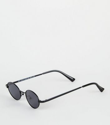 Black Mini Oval Sunglasses