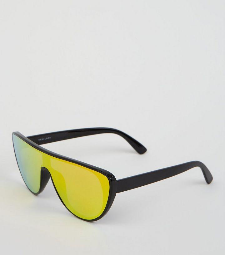 9e2e8f1ad2 Black Iridescent Visor Sunglasses
