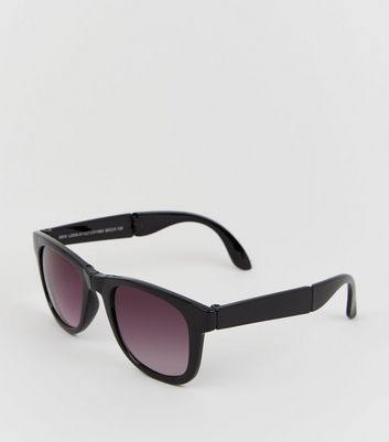 Black Foldable Retro Style Sunglasses