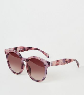 Purple Resin Cat Eye Sunglasses