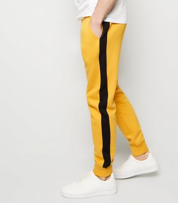 Yellow Side Stripe Joggers