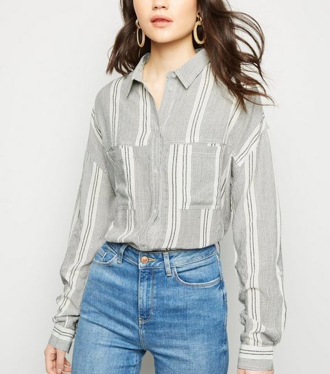 e4d7a12a38b08 White Multi Stripe Shirt · White Multi Stripe Shirt ...