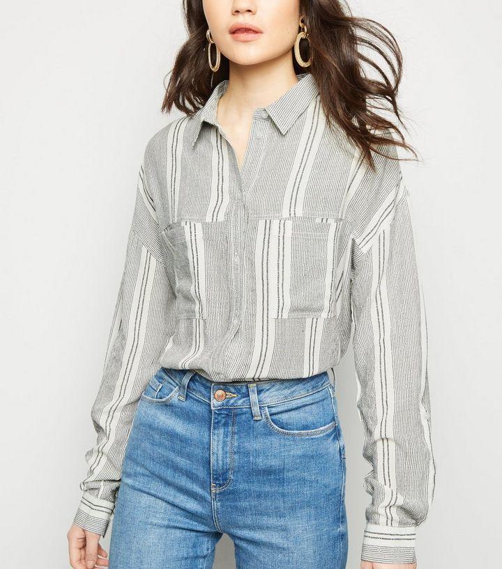 7684daf362 White Multi Stripe Shirt | New Look