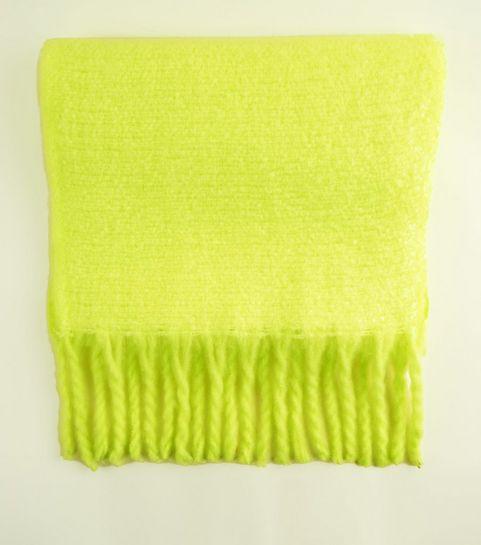 4275dd007495 ... Green Neon Longline Bouclé Scarf ...