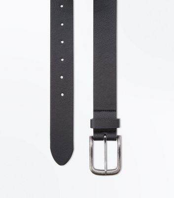 Black Leather-Look Belt