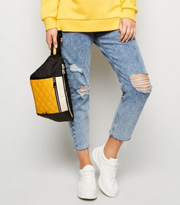 Mustard Quilted Oversized Bum Bag
