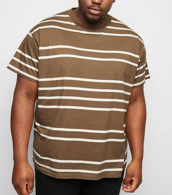 Plus Size Mink Stripe Short Sleeve T-Shirt