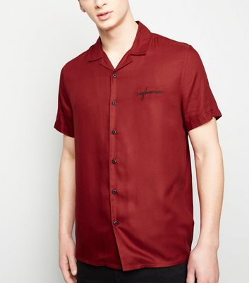 Red San Francisco Embroidered Shirt