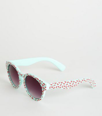 Girls Mint Green Watermelon Sunglasses
