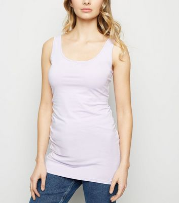 Lilac Scoop Neck Longline Vest Top