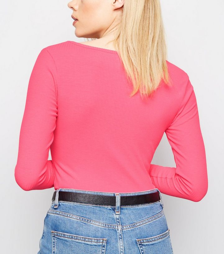 ... Bright Pink Neon Long Sleeve Bodysuit. ×. ×. ×. Shop the look a2cae698d