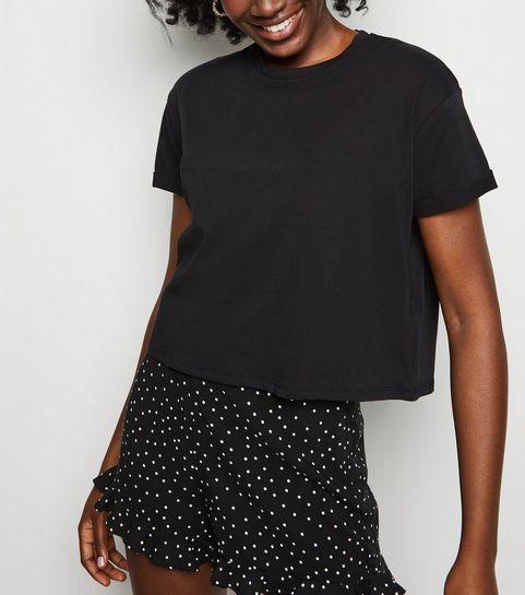 127c51d093a ... Black Organic Cotton Boxy T-Shirt ...