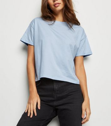 Pale Blue Organic Cotton Boxy T-Shirt