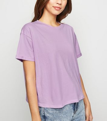 Light Purple Organic Cotton Boxy T-Shirt