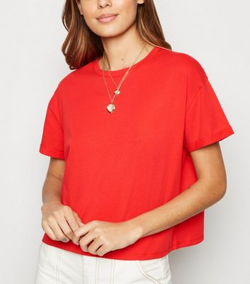Red Organic Cotton Boxy T-Shirt