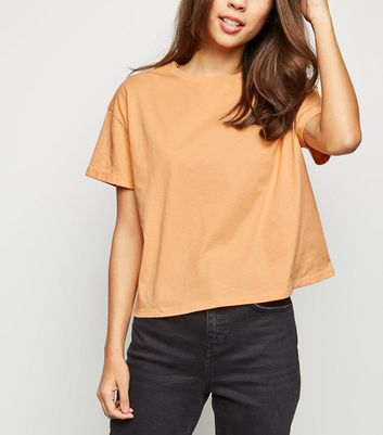 Coral Organic Cotton Boxy T-Shirt