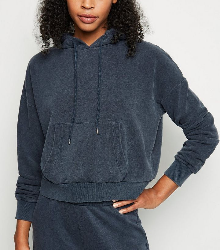 Dark Grey Acid Wash Hoodie Add to Saved Items Remove from Saved Items