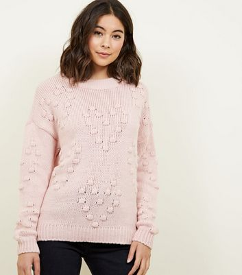 Cameo Rose Pink Heart Bobble Jumper