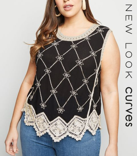 d2fd358049e Curves Black Crochet Top · Curves Black Crochet Top ...