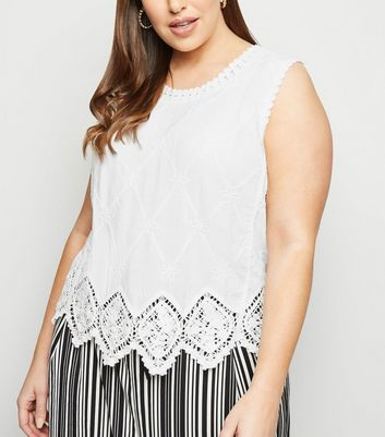 Curves Off White Crochet Top