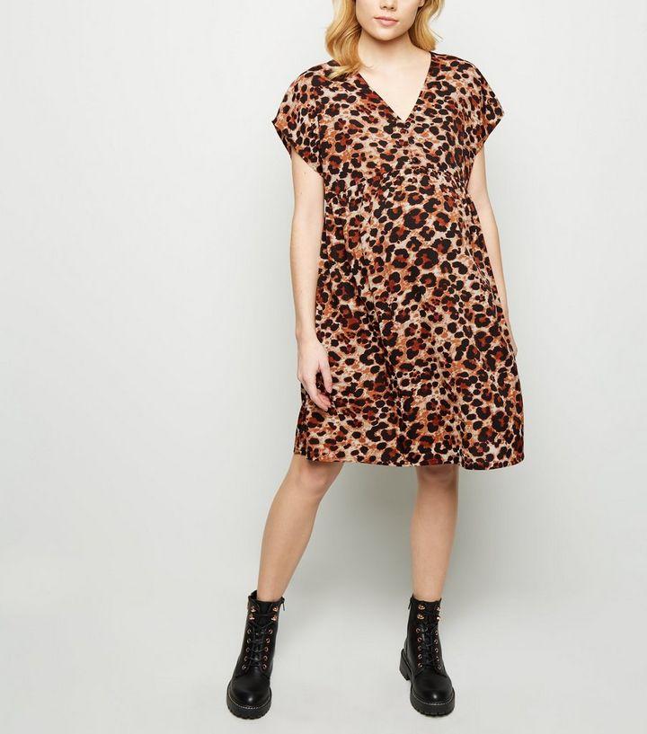 2ce19744453b ... Maternity Brown Leopard Print Smock Dress. ×. ×. ×. Shop the look