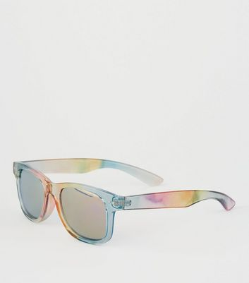Girls Rainbow Square Frame Sunglasses