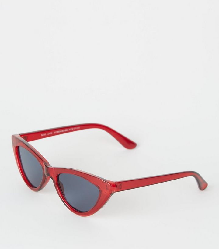 2dab4a01cb5d Girls Red Cat Eye Sunglasses   New Look