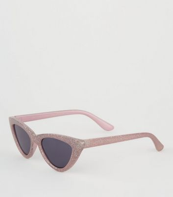 Girls Pink Cat Eye Sunglasses