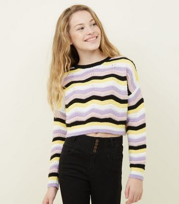 Girls Multicoloured Stripe Jumper
