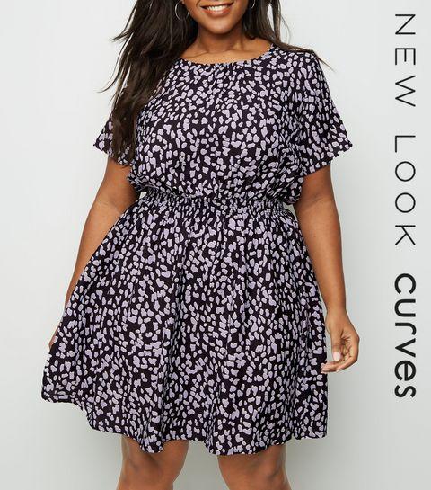 e0edb8a137 ... Curves Black Leopard Print Dress ...