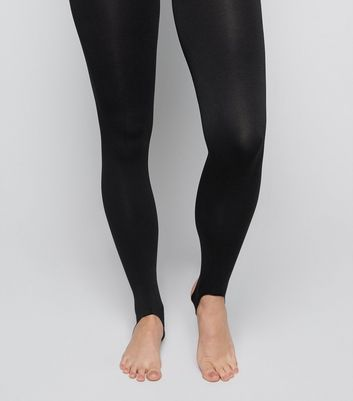 Black 80 Denier Stirrup Tights