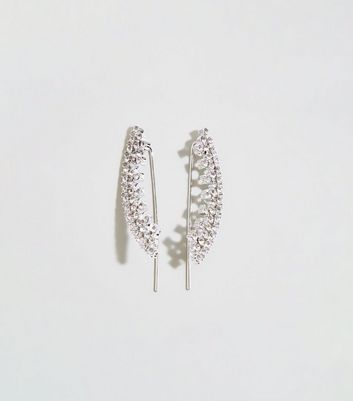 Silver Premium Diamanté Ear Cuffs