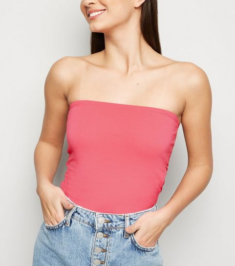 155aa809515 ... Mid Pink Cropped Bandeau Top ...